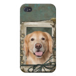 Fathers Day - Stone Paws Golden Retriever Corona Case For iPhone 4