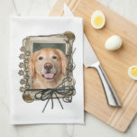 Fathers Day - Stone Paws Golden Retriever - Corona Towels
