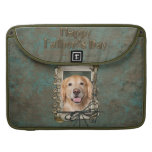 Fathers Day - Stone Paws Golden Retriever - Corona MacBook Pro Sleeves