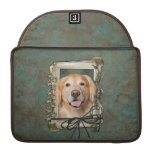 Fathers Day - Stone Paws Golden Retriever - Corona Sleeve For MacBooks