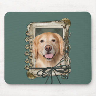 Fathers Day - Stone Paws Golden Retriever - Corona Mouse Pad