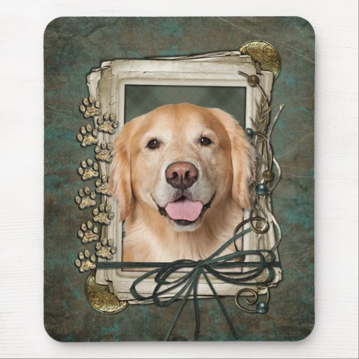 Fathers Day - Stone Paws Golden Retriever Corona Mouse Pad