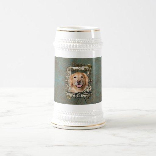 Fathers Day - Stone Paws Golden Retriever - Corona 18 Oz Beer Stein