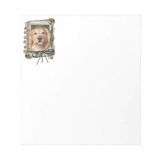 Fathers Day - Stone Paws Golden Retriever - Corona Note Pads