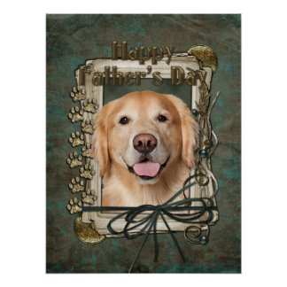 Fathers Day - Stone Paws Golden Retriever - Corona Posters