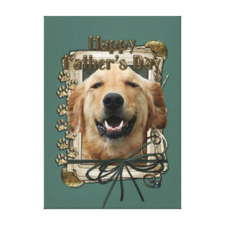 Fathers Day - Stone Paws - Golden Retriever Mickey Gallery Wrapped Canvas