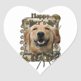Fathers Day - Stone Paws -Golden Retriever -Mickey Heart Sticker