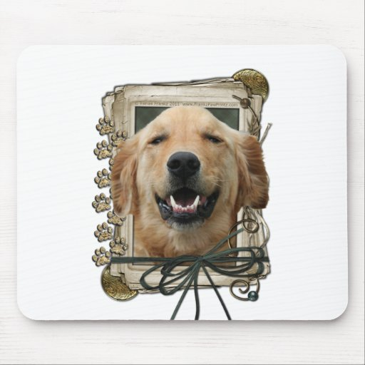 Fathers Day - Stone Paws - Golden Retriever Mickey Mouse Pad