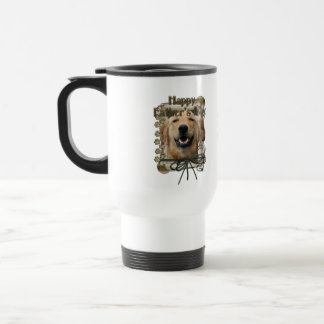 Fathers Day - Stone Paws - Golden Retriever Mickey 15 Oz Stainless Steel Travel Mug