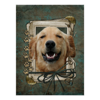 Fathers Day - Stone Paws - Golden Retriever Mickey Posters