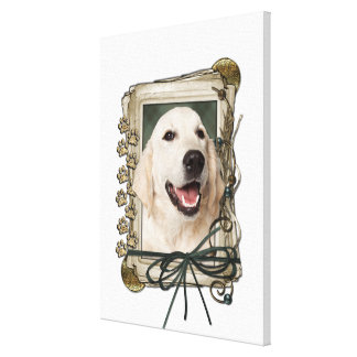 Fathers Day - Stone Paws - Golden Retriever Tebow Canvas Print