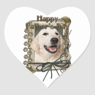 Fathers Day - Stone Paws - Golden Retriever Tebow Heart Sticker
