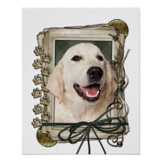 Fathers Day - Stone Paws - Golden Retriever Tebow Posters