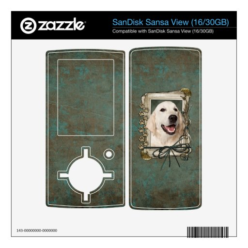 Fathers Day - Stone Paws - Golden Retriever Tebow SanDisk Sansa View Decals