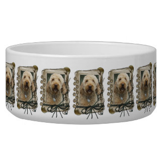 Fathers Day - Stone Paws - GoldenDoodle Bowl