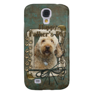 Fathers Day - Stone Paws - GoldenDoodle Samsung Galaxy S4 Cases