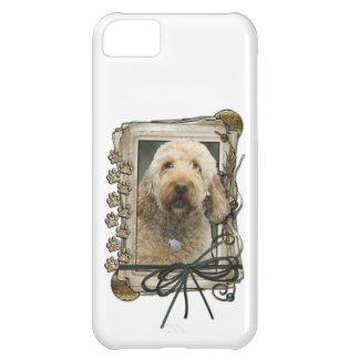 Fathers Day - Stone Paws - GoldenDoodle Case For iPhone 5C