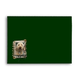 Fathers Day - Stone Paws - GoldenDoodle Envelope