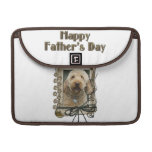 Fathers Day - Stone Paws - GoldenDoodle Sleeve For MacBooks