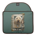 Fathers Day - Stone Paws - GoldenDoodle Sleeves For MacBooks
