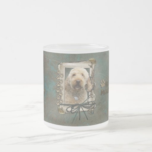 Fathers Day - Stone Paws - GoldenDoodle 10 Oz Frosted Glass Coffee Mug