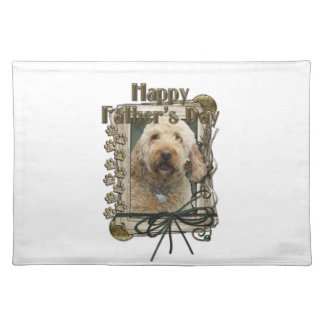 Fathers Day - Stone Paws - GoldenDoodle Placemat
