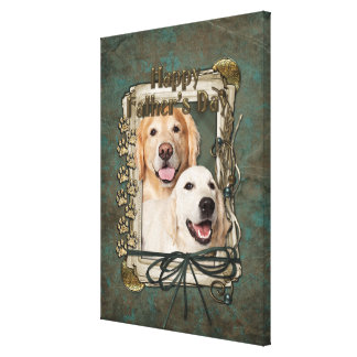 Fathers Day - Stone Paws Goldens Corona and Tebow Canvas Prints
