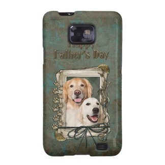 Fathers Day - Stone Paws Goldens Corona and Tebow Galaxy S2 Case