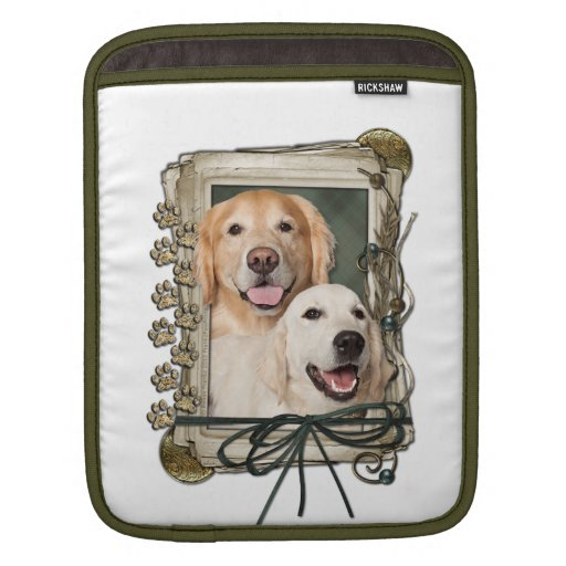 Fathers Day - Stone Paws Goldens Corona and Tebow Sleeve For iPads