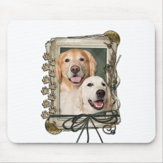 Fathers Day - Stone Paws Goldens Corona and Tebow Mouse Pad