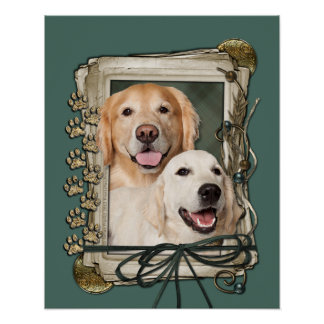 Fathers Day - Stone Paws Goldens Corona and Tebow Print