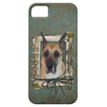 Fathers Day - Stone Paws - Great Dane iPhone 5 Case