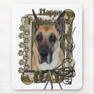 Fathers Day - Stone Paws - Great Dane - Dad Mouse Pad