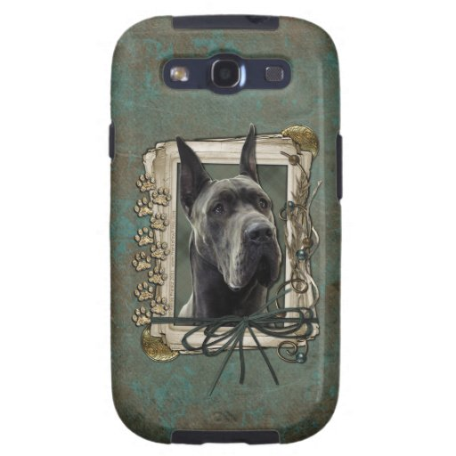 Fathers Day - Stone Paws - Great Dane - Grey Galaxy S3 Cover