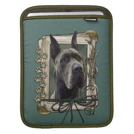 Fathers Day - Stone Paws - Great Dane - Grey iPad Sleeves