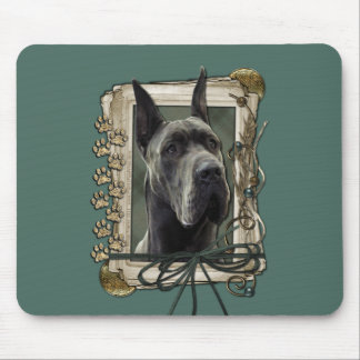 Fathers Day - Stone Paws - Great Dane - Grey Mouse Pad