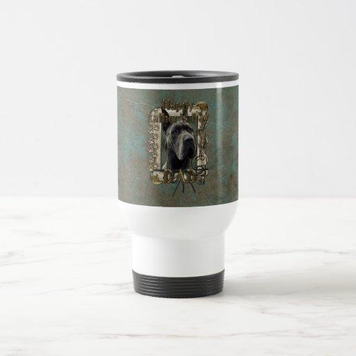 Fathers Day - Stone Paws - Great Dane - Grey 15 Oz Stainless Steel Travel Mug