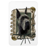Fathers Day - Stone Paws - Great Dane - Grey Flexible Magnet