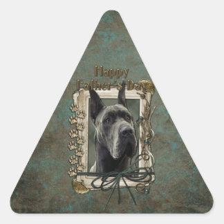 Fathers Day - Stone Paws - Great Dane - Grey Triangle Sticker