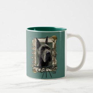 Fathers Day - Stone Paws - Great Dane - Grey Two-Tone Coffee Mug