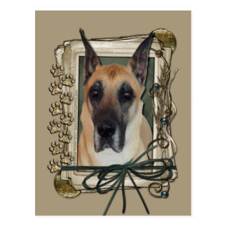 Fathers Day - Stone Paws - Great Dane Postcard