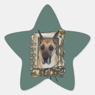 Fathers Day - Stone Paws - Great Dane Star Sticker