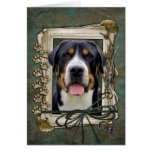 Fathers Day - Stone Paws - Greater Swiss Mountain Greeting Card