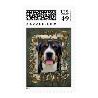 Fathers Day - Stone Paws - Greater Swiss Mountain Postage Stamps