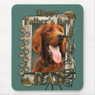 Fathers Day - Stone Paws - Irish Setter - Dad Mouse Pad