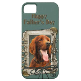 Fathers Day - Stone Paws - Irish Setter iPhone SE/5/5s Case