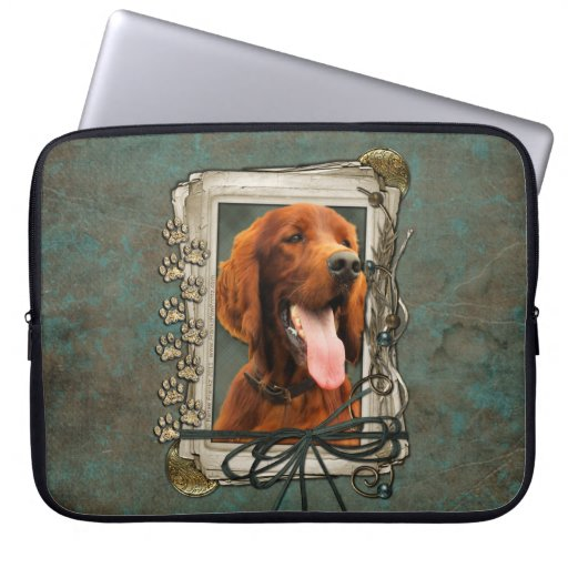 Fathers Day - Stone Paws - Irish Setter Computer Sleeves