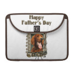 Fathers Day - Stone Paws - Irish Setter Sleeves For MacBooks