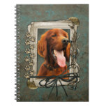 Fathers Day - Stone Paws - Irish Setter Spiral Note Books
