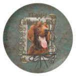 Fathers Day - Stone Paws - Irish Setter Party Plate